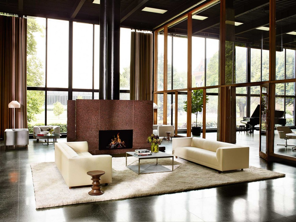 living-lounge-07 - H Frame Coffee Table, Rolled Arm Sofa